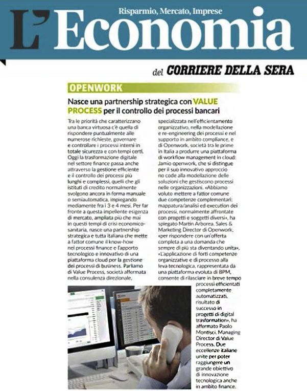 Corriere della Sera Openwork